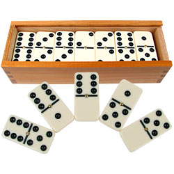 Premium Double Six Dominoes with Braille Image