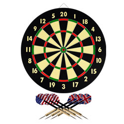 TG? Dart Game Set with 6 Darts & Board