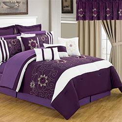 Lavish Home 25 Piece Room-In-A-Bag Amanda Bedroom - King