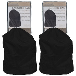 Heavy Duty Jumbo Sized Nylon Laundry Bag - BLACK - Set of 2  Image