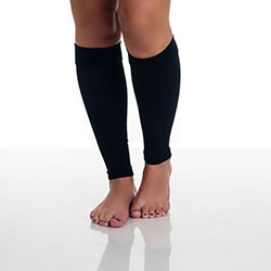 Remedy Calf Compression Running Sleeve Socks - Small/Black