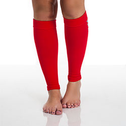 Remedy Calf Compression Running Sleeve Socks - Large/Red