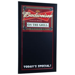 Budweiser BBQ Write On Menu Chalk Board - On The Grill