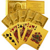 Set of 2 Trademark Poker 24k Gold Playing Cards