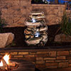 Navarro Stone Waterfall Fountain with LED Lights