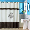 Lavish Home Lewiston Embroidered Shower Curtain w/ Grommets