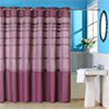 Lavish Home Orleans Pintuck Shower Curtain w/ Grommets