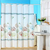 Lavish Home Springtime Printed Shower Curtain w/ Buttonhole