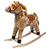 Happy Trails Plush Rocking Horse - Wooden Rocker