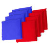 Blue and Red Cornhole Bags, Set of 8