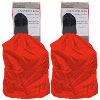 Set of 2 Heavy Duty Jumbo Sized Nylon Laundry Bag - RED