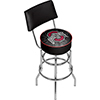 Ohio State Faded Brutus Padded Bar Stool with Back