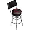 Ohio State Smoking Brutus Padded Bar Stool with Back