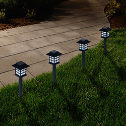 Navarro Outdoor Lantern Solar Landscaping Lights - Set of 6