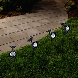 Outdoor Solar Yard Spot Lights - Set of 4 Image