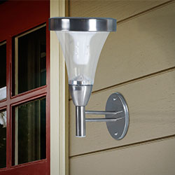 Navarro Outdoor Wall or Post Mount Solar Lights - Set of 2