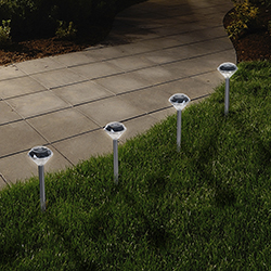 LED Solar Diamond Pathway Lights - Set of 24 Image