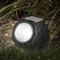 LED Solar Rock Landscaping Lights - Set of 4 Image