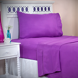 Lavish Home Series 1200 3 Piece Twin XL Sheet Set - Purple