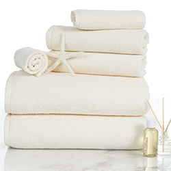 100 Percent Cotton Towel Set, Zero Twist, Soft and Absorbent 6 Piece Set With 2 Bath Towels, 2 Hand Towels and 2 Washcloths (Ivory) By Lavish Home