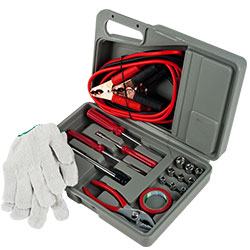 Emergency Roadside Automobile Assistance Kit- 30 Piece Set for Car, Truck, SUV, RV-Carrying Case, Jumper Cables, Tools, Gloves, and More by Stalwart