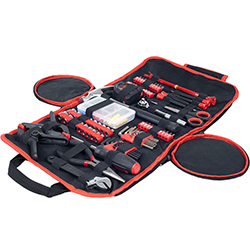 86 Piece Tool Kit - Household Car & Office in Roll Up Bag  Image