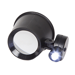 Stalwart 10x Magnification Jewelers Eye Loupe with Adjustable LED