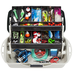 2-Tray Fishing Tackle Box Craft Tool Chest and Art Supply Organizer ? 14 Inch by Wakeman Outdoors