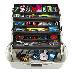 3-Tray Fishing Tackle Box Craft Tool Chest and Art Supply Organizer ? 18 Inch by Wakeman Outdoors