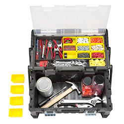 Parts & Crafts Tiered Storage Tool Box - 22 Inch Image
