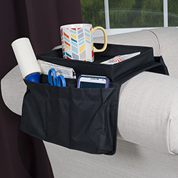 6 Pocket Arm Rest Organizer with Table-Top Image