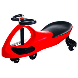Wiggle Car- Ride On Toy- No Batteries, Gears or Pedals- Twist, Swivel & Go- Outdoor Play for Boys and Girls 3 Years Old & Up by Lil? Rider (Red)
