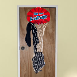 Over the Door Dunk Your Laundry Hamper Basketball  Image