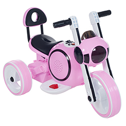 Ride on Toy, 3 Wheel LED Mini Motorcycle Trike for Kids by Lil? Rider ? Battery Powered Toys for Boys and Girls, Toddler - 4 Year Old - Pink