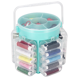 Set of 2 210 Piece Sewing Kit Deluxe Caddy - Aqua