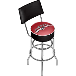 NHL Swivel Bar Stool with Back - Carolina Hurricanes®