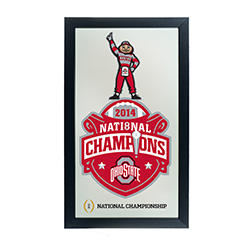 Ohio State University National Champions Framed Mirror - Brutus