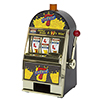 Burning 7's Slot Machine Bank W/ Spinning Reels