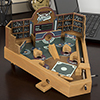 Baseball Pinball Tabletop Skill Game - Classic Miniature Wooden Retro Sports Arcade Desktop Toy for Adult Collectors and Children by Hey! Play!