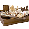 7-in-1 Classic Wooden Board Game Set ? Old Fashioned Family Game Night Cards, Dice, Chess, Checkers, Backgammon, Dominoes and Cribbage by Hey! Play!