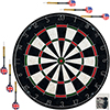 Bristle Dart Board with Metal Wire Spider ? Professional Regulation Size Tournament Set with 6-17 Gram Steel Tip Darts for Indoors by Trademark Games