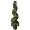 50 inch Pure Garden Boxwood Spiral Topiary Artificial Tree
