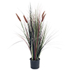 4 Foot Artificial Romano Cattail Grass ? Large Faux Potted Plant for Indoor or Outdoor Decoration at Home, Office, or Restaurant by Pure Garden