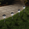 Overstock LED Solar Honeycomb Glass Pathway Lights-Set of 6