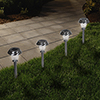 Solar Powered Lights (Set of 6)- LED Outdoor Stake Spotlight Fixture for Gardens, Pathways, and Patios by Pure Garden-Glass