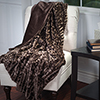 Lavish Home Plush Croc Embossed Faux Fur Mink Throw - Brown