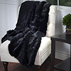 Lavish Home Luxury Long Haired Faux Fur Throw - Black