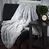 Lavish Home Luxury Long Haired Faux Fur Throw - Grey