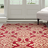 Lavish Home Oriental Area Rug 8'x10' - Red & Gold