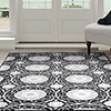 Lavish Home Royal Damask Area Rug 8'x10' - Black